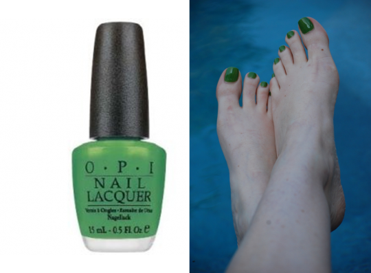 OPI Greenwich Village polish spring toes