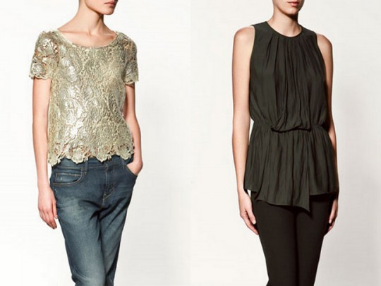 Zara Fall 2011 Tops
