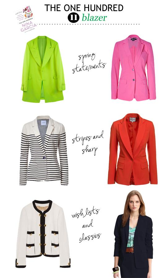red blazer pink blazer striped blazer pink blazer green blazer navy blazer