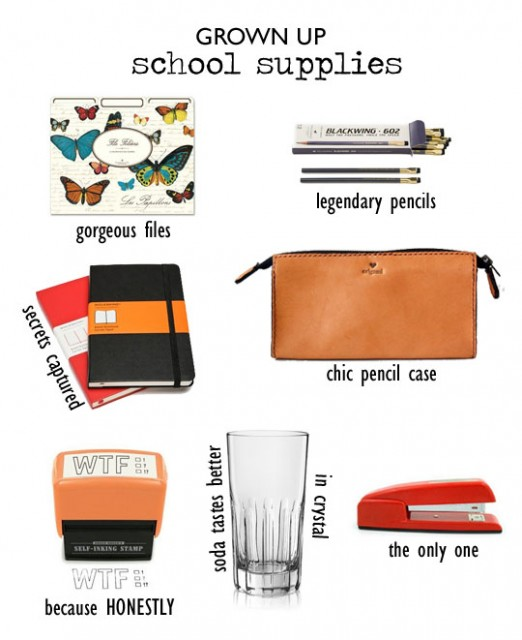 grown up school supplies
