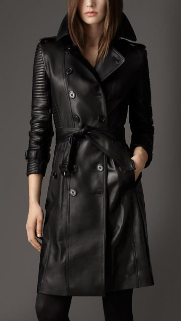 burberry biker coat