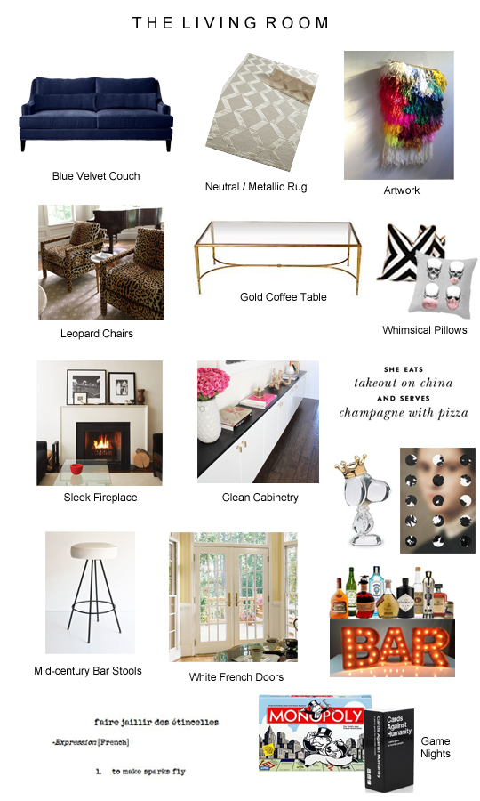 Living Room Inspiration Board copy