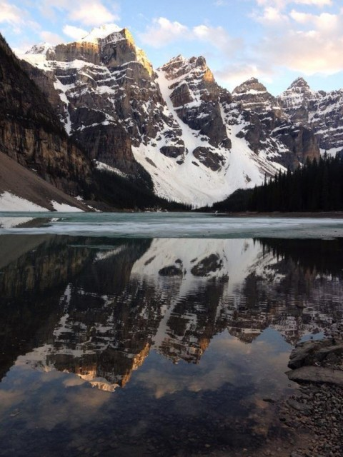 And this piece is pure poetry - Moraine Lake in Canada.